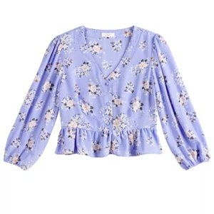 CANDIE'S floral peasant ruffle top